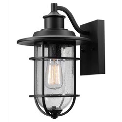 Globe Electric  Vintage  1-Light  Natural  Black  Turner  Wall Sconce