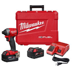 Milwaukee M18 FUEL 18 volt 1/4 in. Cordless Brushless Impact Driver Kit (Battery & Charger)