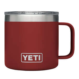 YETI  Rambler  Brick Red  Insulated Mug  BPA Free Stainless Steel  14 oz.