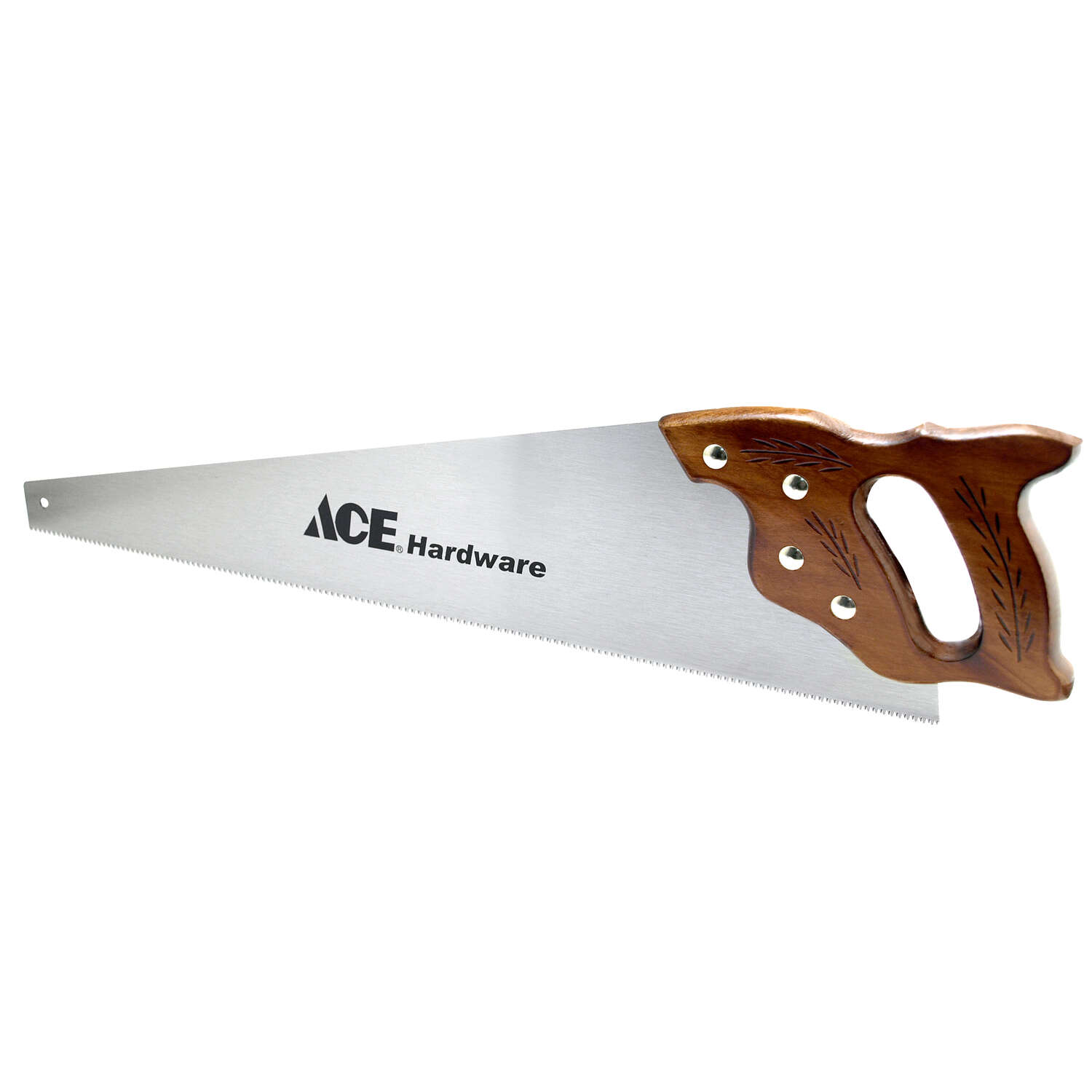 Ace  26 in. Steel  Contractor Handsaw  12 TPI