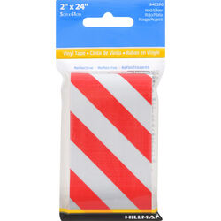 Hillman 2 in. W x 24 in. L Red/White Reflective Safety Tape 1 pk