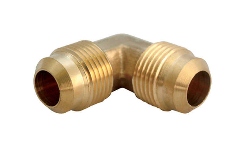 Ace  1/4 in. 1/4 in. Dia. Brass  Flare Elbow