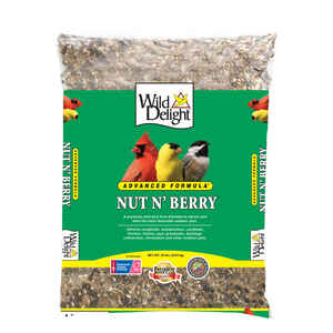 Wild Delight  Nut N Berry  Assorted Species  Wild Bird Food  Sunflower Kernels  20 lb.