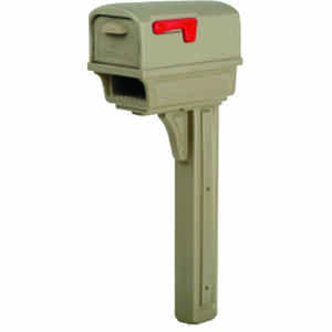 Gibraltar Mailboxes  Gibraltar  Gentry  Plastic  Post and Box Combo  Mocha  Mailbox w/Post  50 in. H