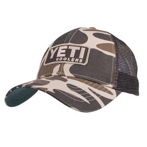 YETI  Brown Camouflage  Trucker Hat  One Size Fits All  Cotton Twill