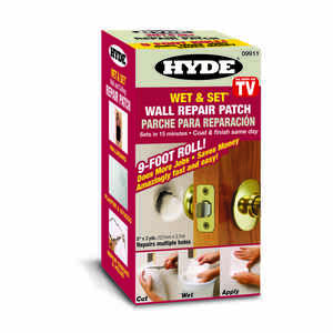 Hyde  9 ft. L x 5 in. W Composite  White  Wet & Set Wall and Ceiling Repair Patch
