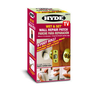 Hyde  0.75 ft. L x 5 in. W White  Composite  Wet & Set Wall and Ceiling Repair Patch