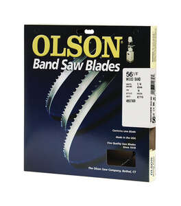 Olson  56.1  L x 0.3 in. W x 0.01 in.  Carbon Steel  Band Saw Blade  14 TPI Hook  1 pk