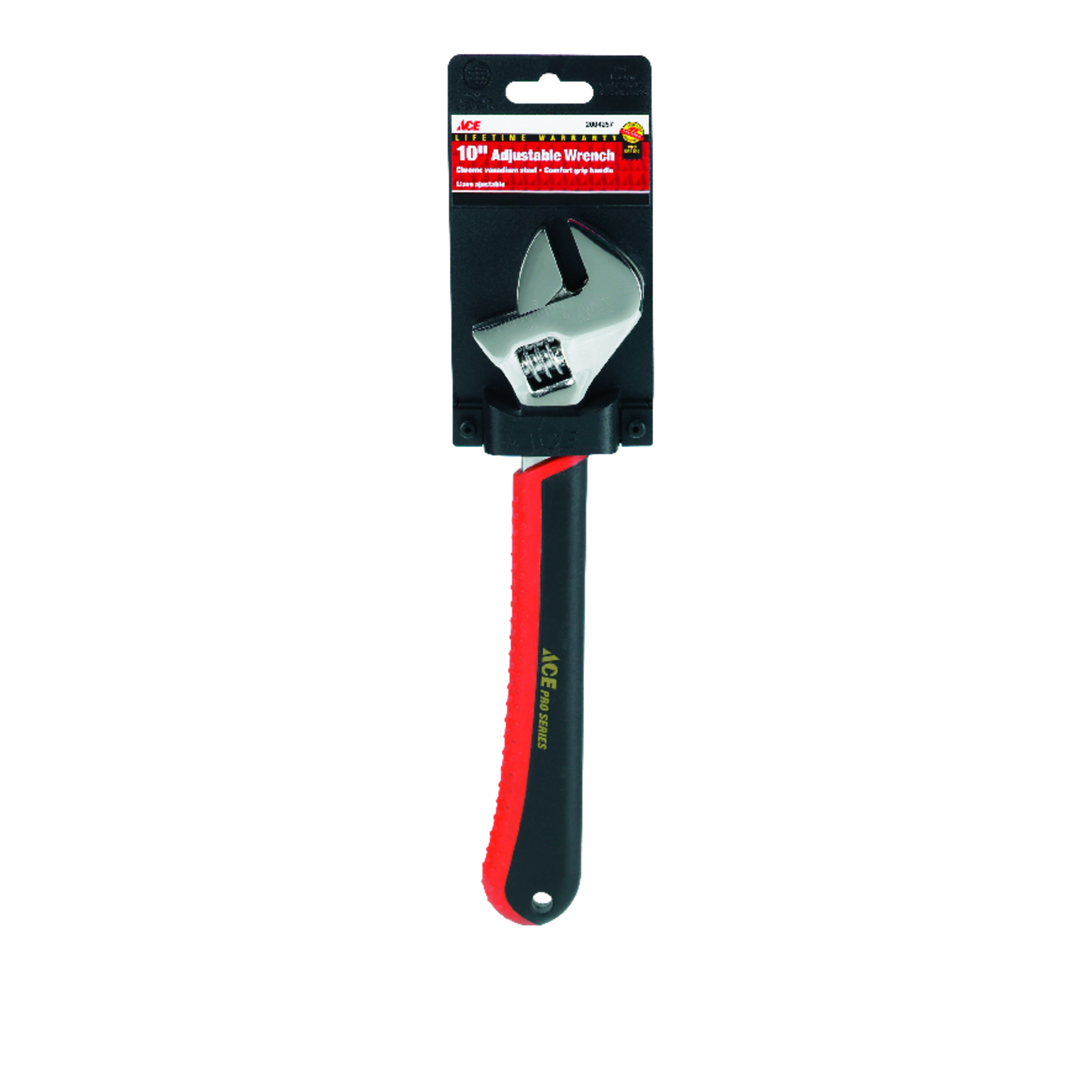 Ace  Adjustable Wrench  10 in. 1 pc.