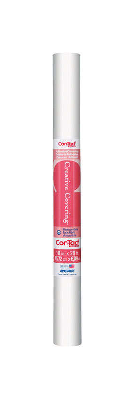 Con-Tact Brand  Creative Covering  20 ft. L x 18 in. W White  Self-Adhesive  Shelf Liner