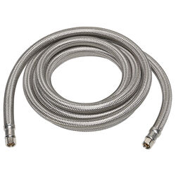 Ace  1/4 in. Compression   x 1/4 in. Dia. Compression  120 in. Braided Stainless Steel  Ice Maker Su