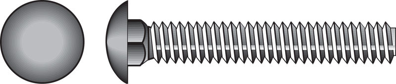 HILLMAN  1/4  Dia. x 1-1/2 in. L Stainless Steel  Carriage Bolt  50 pk