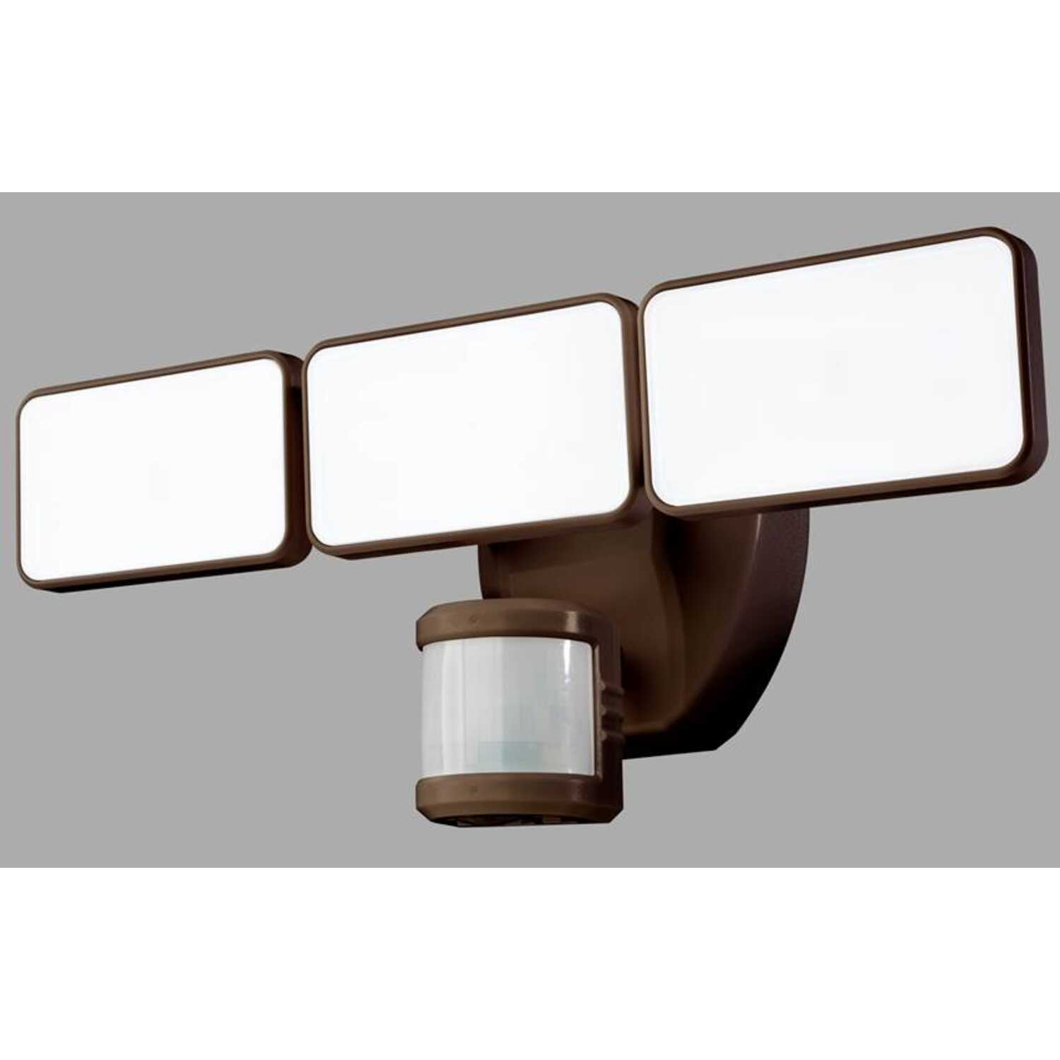 Heath Zenith  Plastic  Motion-Sensing  Bronze  Security Wall Light