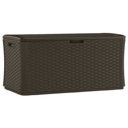 Suncast  55 in. W x 29 in. D Brown  Plastic  Deck Box