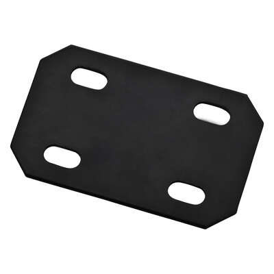 National Hardware  4.7 in. H x 3 in. W x 0.125 in. D Black  Carbon Steel  Flat  Mending Plate