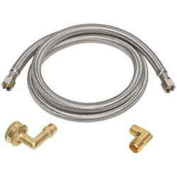 Ace  3/8 in. Compression   x 3/8 in. Dia. Compression  48 in. Braided Stainless Steel  Supply Line