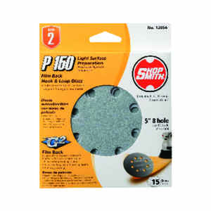 Shopsmith  5 in. Aluminum Oxide  Hook and Loop  Sanding Disc  150 Grit Fine  15 pk