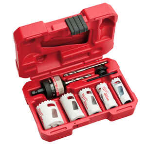 Milwaukee  Hole Dozer  Assorted in. Dia. x 3/4 in. L Bi-Metal  Hole Saw Kit  10 pc. 1/4 in.