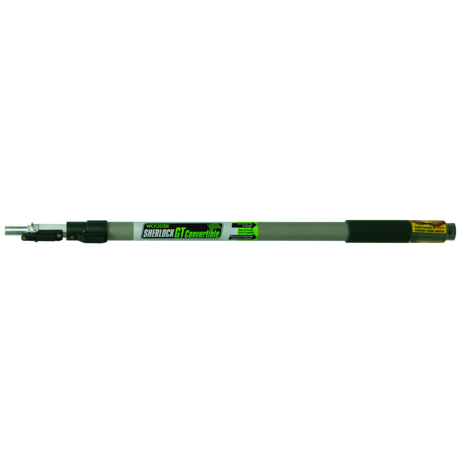 Wooster  Sherlock  Telescoping 1 in. Dia. x 2-4 ft. L Aluminum  Black/White  Extension Pole