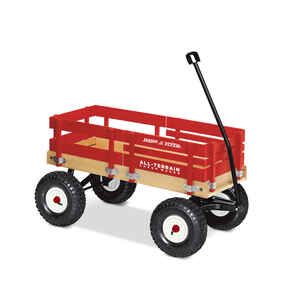 Radio Flyer  Toy Wagon  Wood  Red