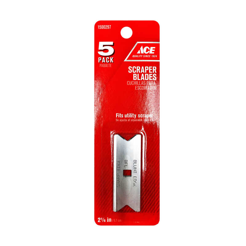 Ace  2-1/4 in. W Steel  Double Edge  Scraper Blade