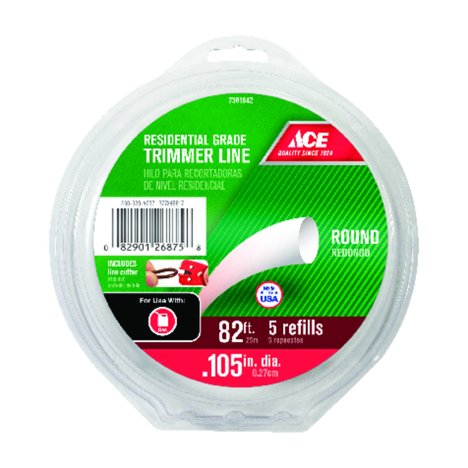 Ace  Residential Grade  0.105 in. Dia. Trimmer Line