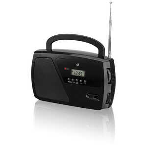 GPX  Black  Digital  Plug-In  AM/FM Clock Radio