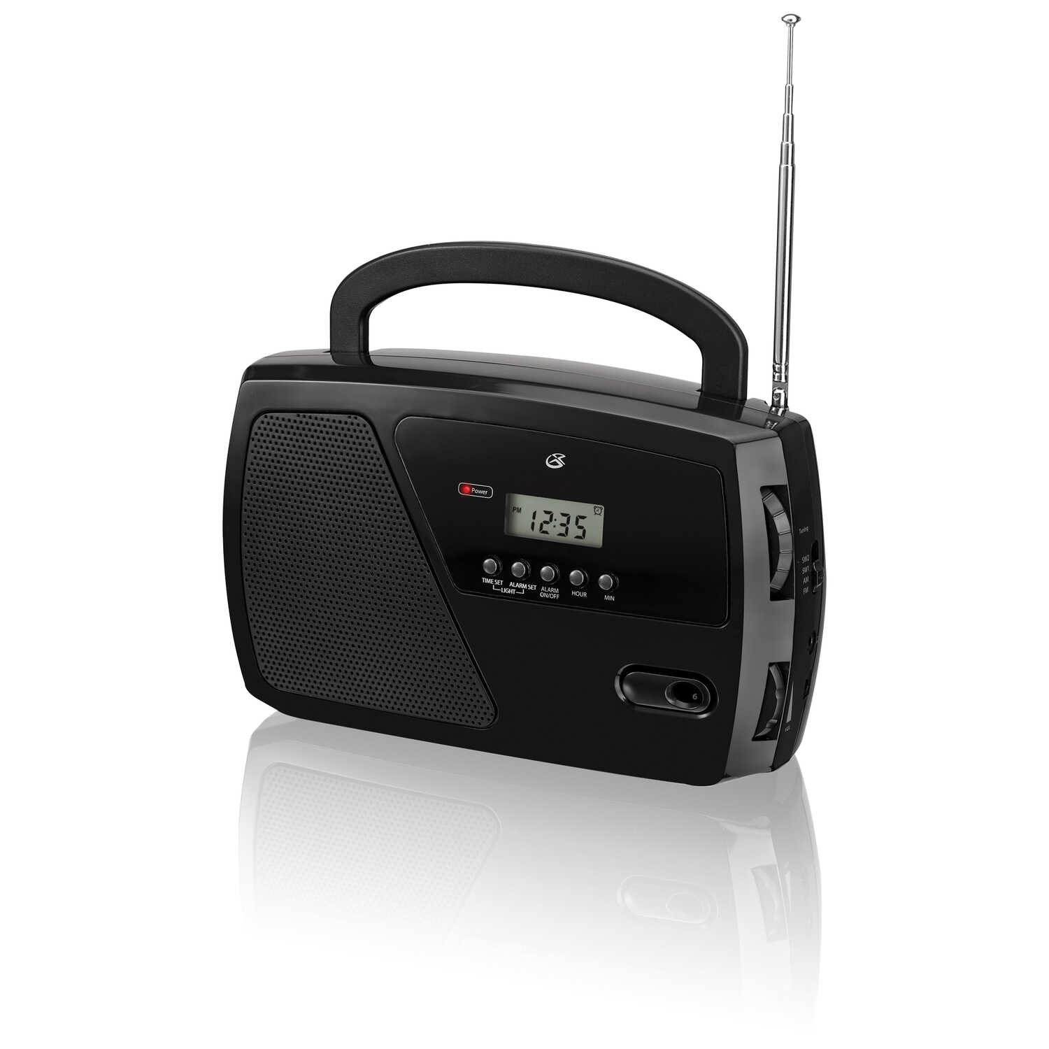 GPX  Black  AM/FM Clock Radio  Digital  Plug-In