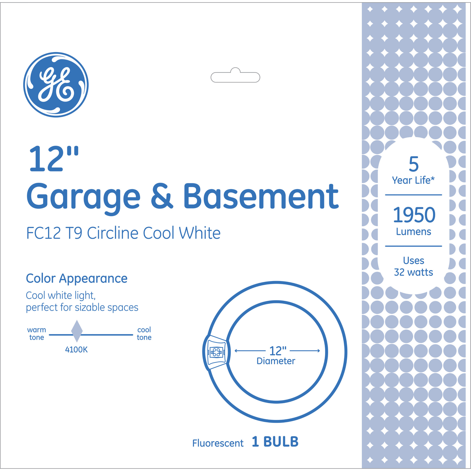 GE Garage and Basement Circline Bulb 32W