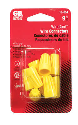 Gardner Bender WingGard 18-10 Ga. Copper Wire Wire Connector Yellow 9 pk