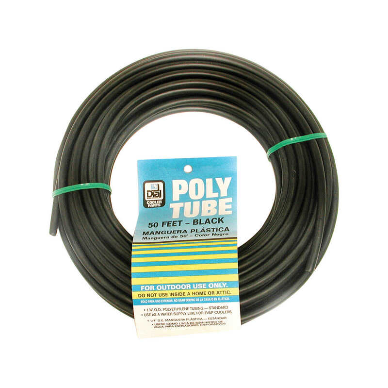 Dial  1/4 in. H x 1/4 in. W Black  Delrin Sleeve and Poly Tube Brass Insert  Poly