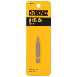 DeWalt Torx T15 in. x 2 in. L Screwdriver Bit Heat-Treated Steel 1 pc.