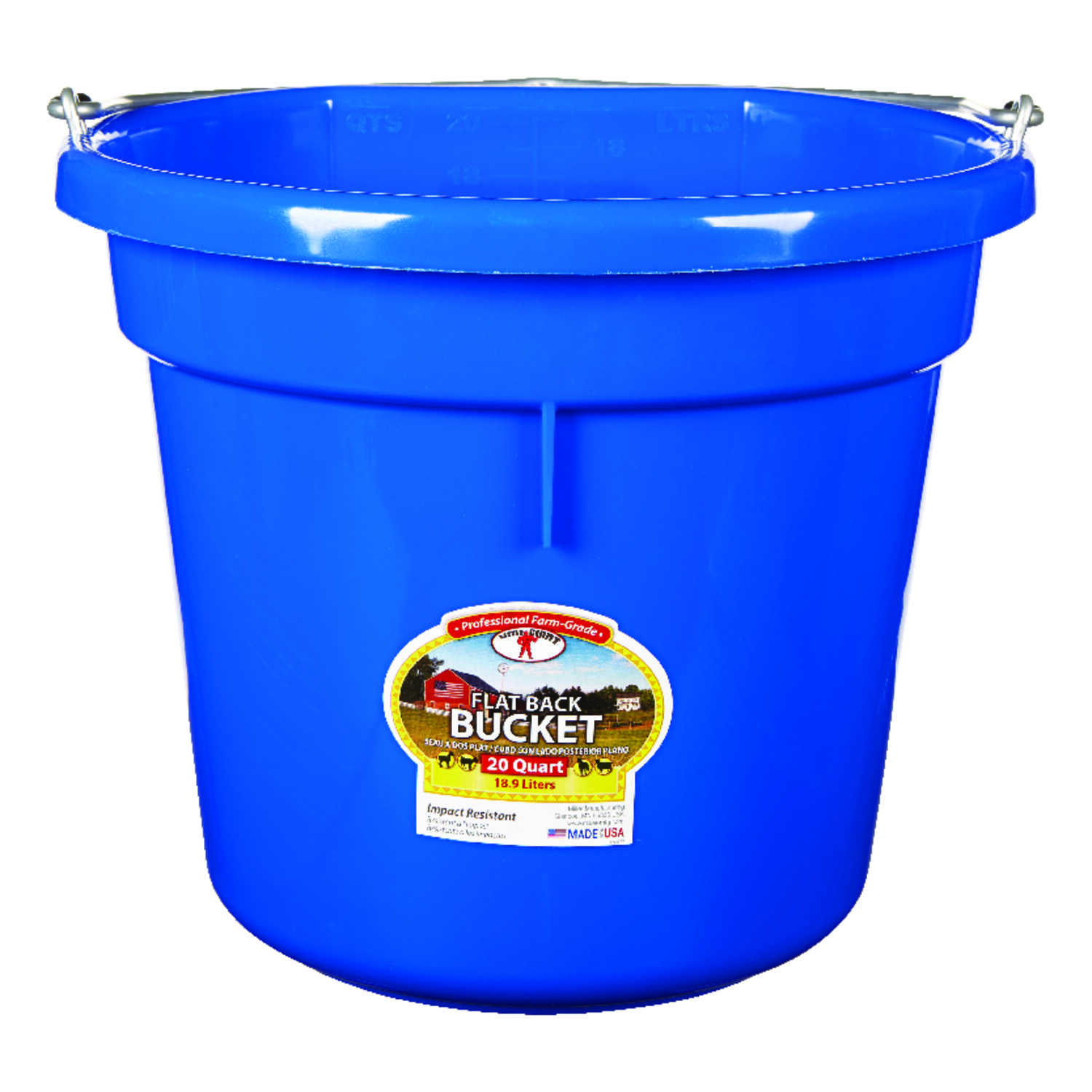 Little Giant  20 qt. Bucket  Blue