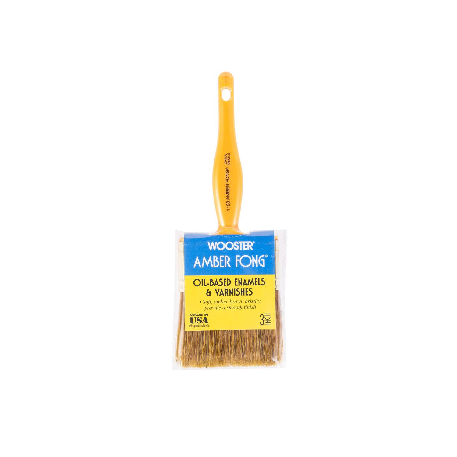 Wooster Amber Fong 3 in. W Flat Paint Brush