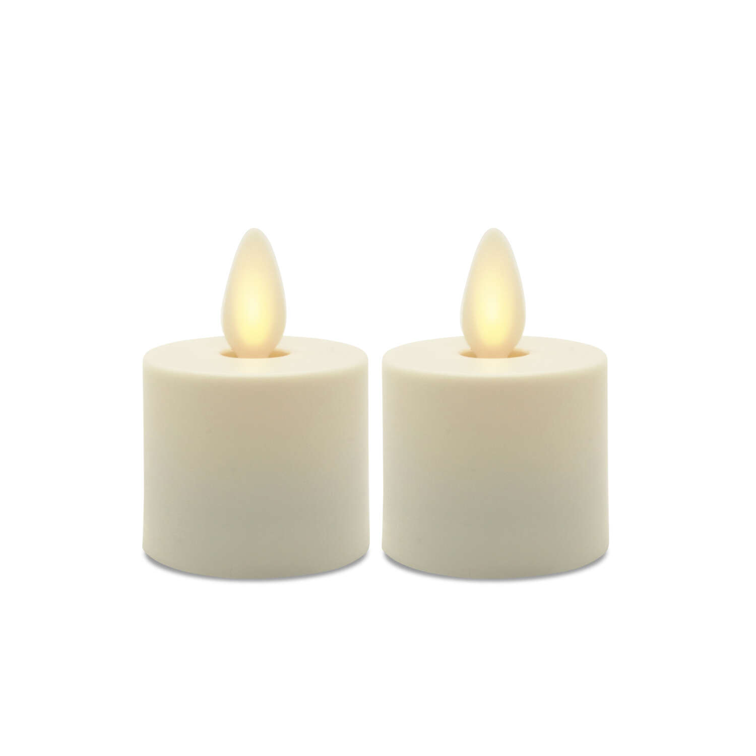 Matchless  Darice  Ivory  Unscented Scent Votive  Flameless Flickering Candle  2 in. H x 1.5 in. Dia