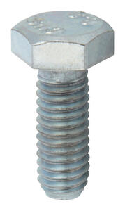 Hillman  M6-1.00 mm Dia. x 16 mm L Heat Treated  Steel  Hex Head Cap Screw  100 pk