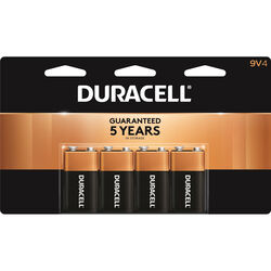 Duracell  Coppertop  9-Volt  Alkaline  Batteries  4 pk Carded