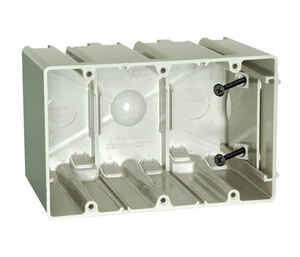 Allied Moulded  SliderBox  3-3/4 in. Rectangle  Polycarbonate  3 gang Outlet Box  Beige/Tan