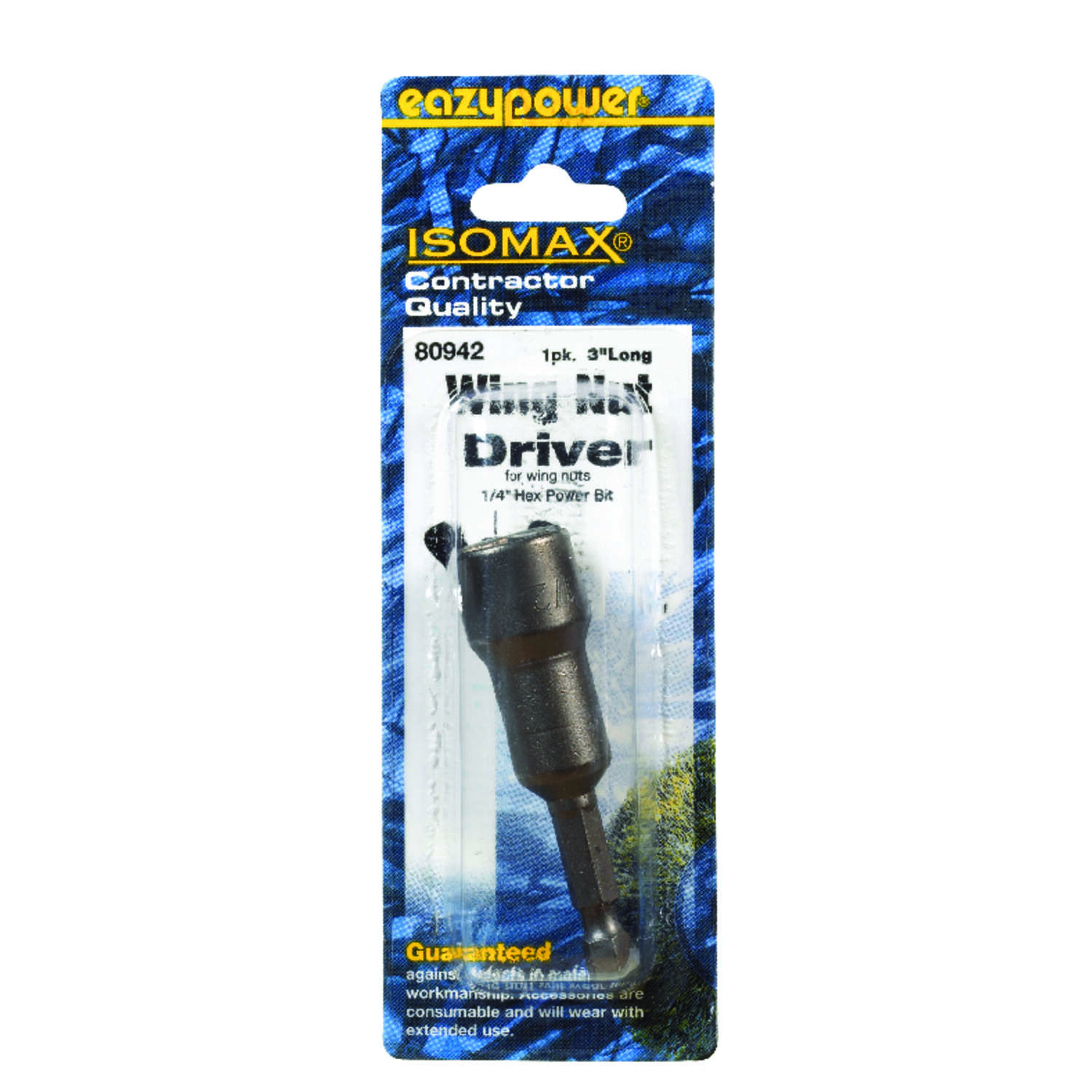 Eazypower  Isomax  1/4 in. Steel  SAE  Wing Nut Driver  1 pk