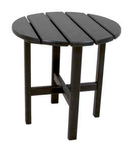 Ivy Terrace  Black  Classic  Round  Plastic  End Table