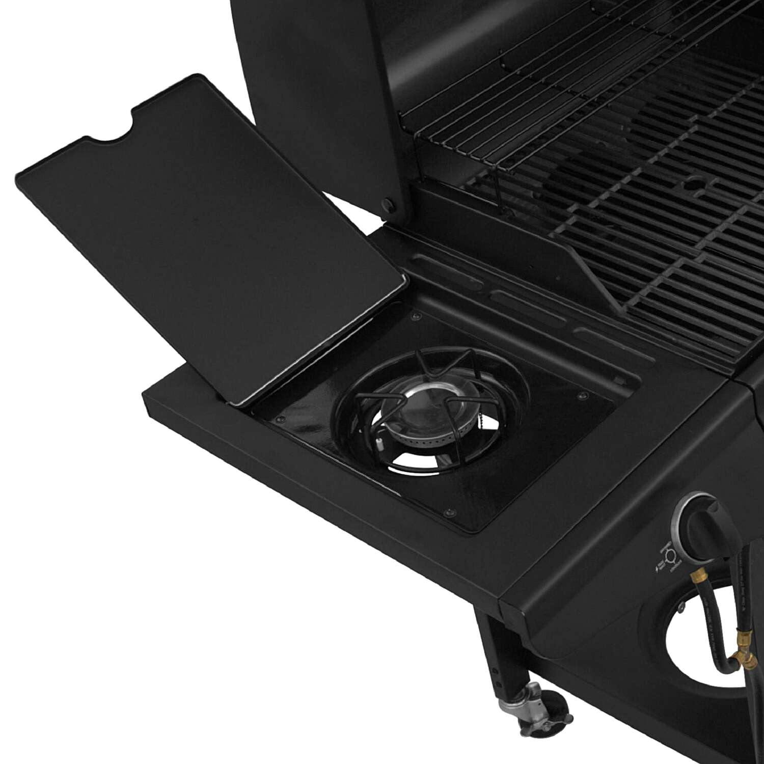 Char-Broil  Combo 3 Burner  3 burners Multi-Fuel  Black  Grill  36000 BTU