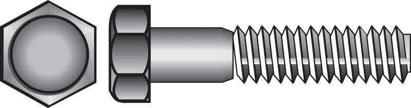 Hillman  5/16-18 in. Dia. x 1 in. L Stainless Steel  Hex Head Cap Screw  100 pk