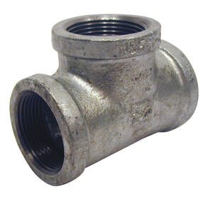 Mueller  1 in. FPT   x 3/4 in. Dia. FPT  Galvanized  Malleable Iron  Reducing Tee