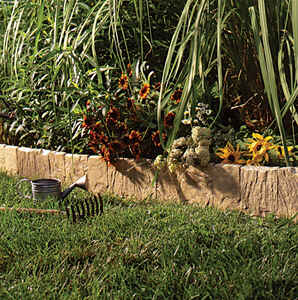 Suncast  9 ft. L x 6.5 in. H Resin  Tan  Lawn Edging
