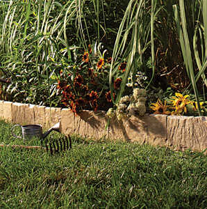 Suncast  6.5 in. H x 9 ft. L Lawn Edging  Tan  Resin