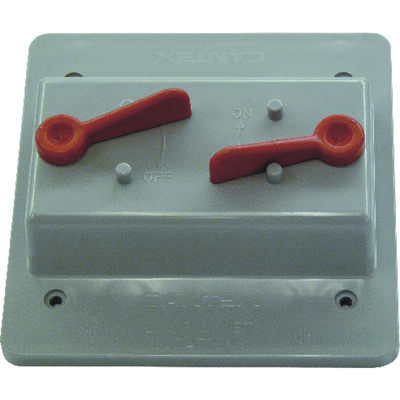 Cantex Rectangle PVC 2 gang Electrical Cover For 2 Toggle Switches