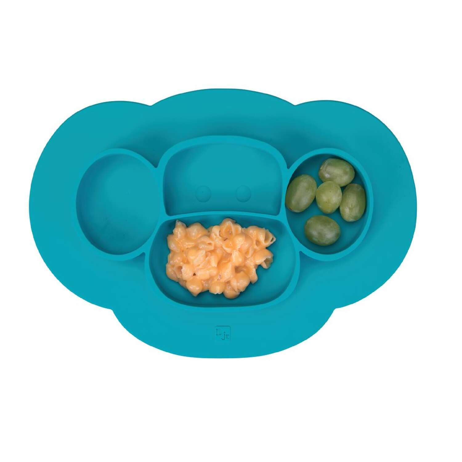 InterDesign  Blue  Silicone  Kids  Divided Plate  1 pk