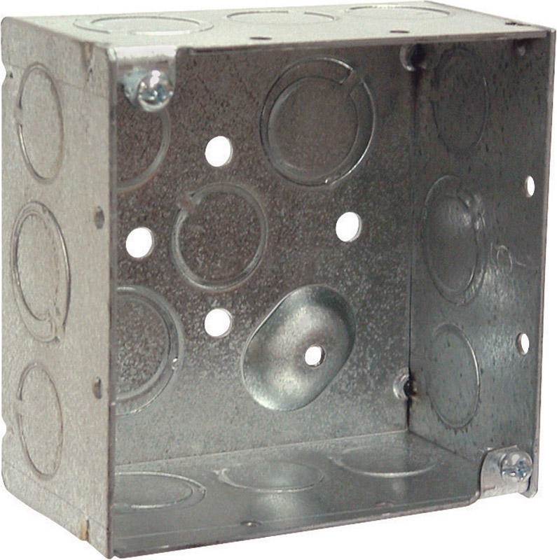 Raco  Square  Steel  4 in. Junction Box  Gray  2 Gang