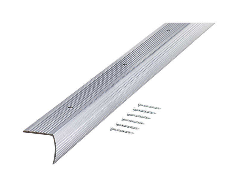 M-D Building Products  36 in. L Prefinished  Silver  Aluminum  Stair Edge