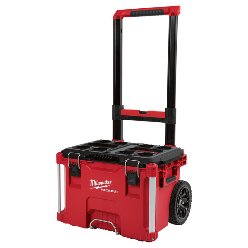 Milwaukee PACKOUT 22.1 in. 25.6 in. W x 18.9 in. H Rolling Tool Box Red Wheeled Black/Red Impa -  48-22-8426